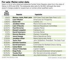 maine regularly sells voter data it denied to feds portland