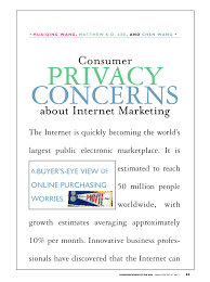 consumer privacy concerns about internet marketing