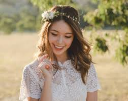 floral headpiece rustic flower crown etsy