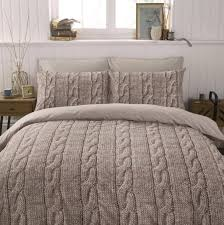 warm beige brown wool cable knit photo print design bedding set warm beige brown wool cable knit photo print design bedding set duvet cover