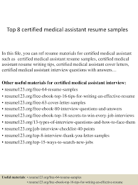 Medical Assistant Resume Template Free Medical Assistant Resume Samples Job Sample Resumes Peppapp