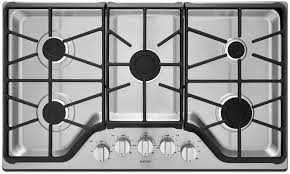 30 Inch 5 Burner Gas Cooktop Maytag Mgc7430db 30 Inch Gas Sealed Burner Style Cooktop In Black