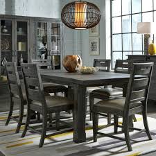 abington 7 piece dining room table with 6 side chairs bernie