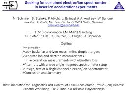 Seeking 1 Channel Seeking For Combined Electron Ion Spectrometer In Laser Ion