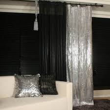 Silver Window Curtains Glamorous Silver Metallic Plaids Curtain Drapery Panel