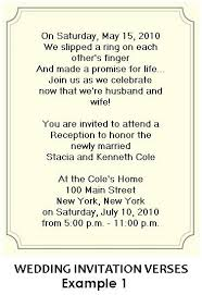 wedding invitation wording for already married wedding party invitations after marriage the charming verse in
