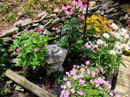small flower gardens decorating clear