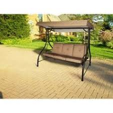 outsunny metal frame outdoor porch patio canopy swing bench
