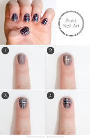 easy plaid nail art how to more com