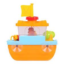 amazon com wall mountable pirate ship bathtub bath toy for kids
