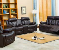 naples reclining sofa u0026 loveseat w cupholders and console set