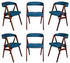 set of six mahogany chairs by eugenio escudero circa 1950s