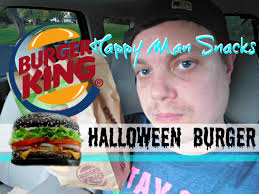 halloween whopper burger king new burger king black bun a1 halloween whopper review youtube