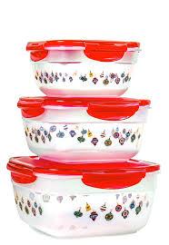 lock food storage containers 6 square plastic container set