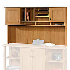 Realspace Dawson Computer Desk Realspace Dawson Hutch Maple By Office Depot Officemax
