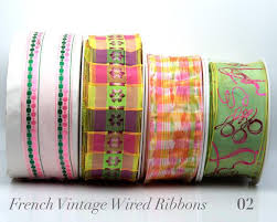 wired ribbon buy ribbons wired satin stripe trim order now renaissance ribbons
