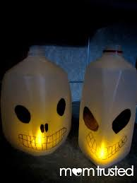 milk jug skull lanterns preschool activities and