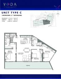 floor plan model c linec atvoda waterfront residences north
