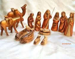 wooden nativity set wood nativity set etsy