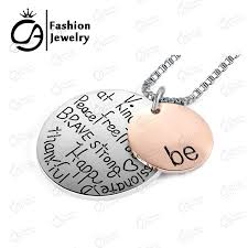 inspirational necklace aliexpress buy two tone be graffiti initial charm necklace