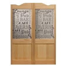 Decorative Glass Doors Interior Pinecroft 30 In X 42 In Pub Decorative Glass Wood Raised