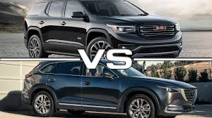 mazda suv 2017 gmc acadia vs 2017 mazda cx 9 youtube