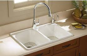 kitchen sink with faucet k 596 bl cp vs kohler simplice kitchen sink faucet with 16 5 8