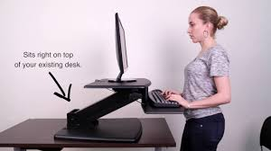 kantek sit to stand desktop workstation youtube