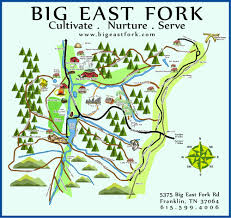 Map Of Eastern Tennessee by Big East Fork