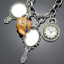 vintage silver bracelet charms images Vintage fairytale charms alice in wonderland style chain bangle jpg