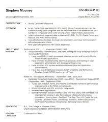 Pl Sql Developer Sample Resume by Intricate Sql Resume 6 Sql Developer Sample Resume Format Resume