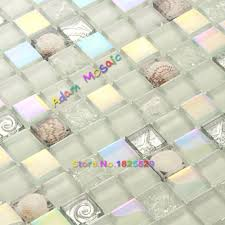 100 white glass mosaic backsplash photos hgtv glass tile
