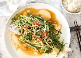 8 Classic Fish And Seafood Sauce Recipes Chinese Steamed Fish With Ginger Shallot Sauce Recipetin Eats