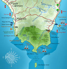 Map Costa Rica Cabo Blanco Nature Reserve Costa Rica