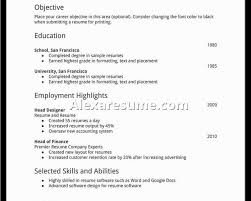 how to create a resume create a new rsum find good objective to