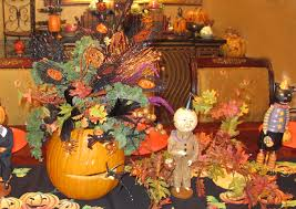 halloween flowers in pumpkins prettyfood