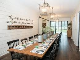 fixer upper dining table fixer upper a very special house in the country hgtv s fixer