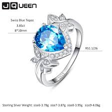 necklace wedding ring images Wedding jewelry sets for brides 925 sterling silver blue topaz jpg