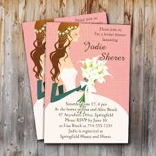 bridal shower invitations cheap chic pink wedding dress bridal shower invitations online ewbs051