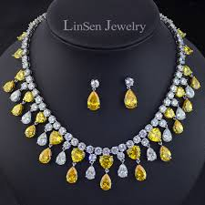 yellow necklace set images New design big brand yellow golden stone luxury necklace earring jpg