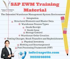 sap tutorial ppt sapvits provide sap ewms online training in pune all over india uk