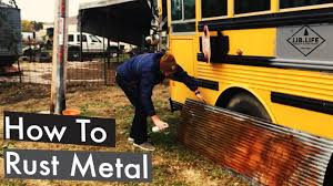 skoolie conversion how to rust metal part 2 skoolie bus conversion tiny house