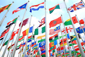 Commonwealth Flags Uk And World National Flags Is Flying Stock Photo Picture And