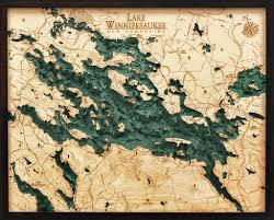 lake winnipesaukee new hshire 3 d nautical wood chart ei home