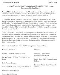 a look at who is backing jason kenney u0027s bid for the pc party