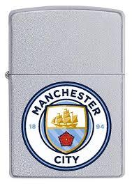 arsenal zippo lighter manchester city official zippo lighter in satin chrome mcfc