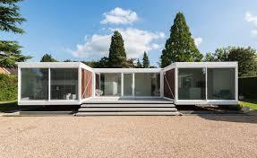 modern glass houses single floor u shape house idea with modern glass home design and