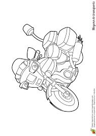 coloriage véhicules moto de police