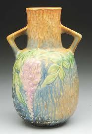 Vase Shaped Jug Roseville Blue Wisteria Vase Shape No 638 9 Excellent Color