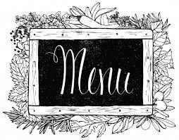 tableau craie cuisine herbe de cuisine à la craie sur le tableau noir télécharger des